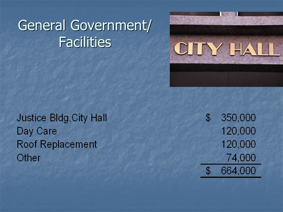 General Government/ Facilities