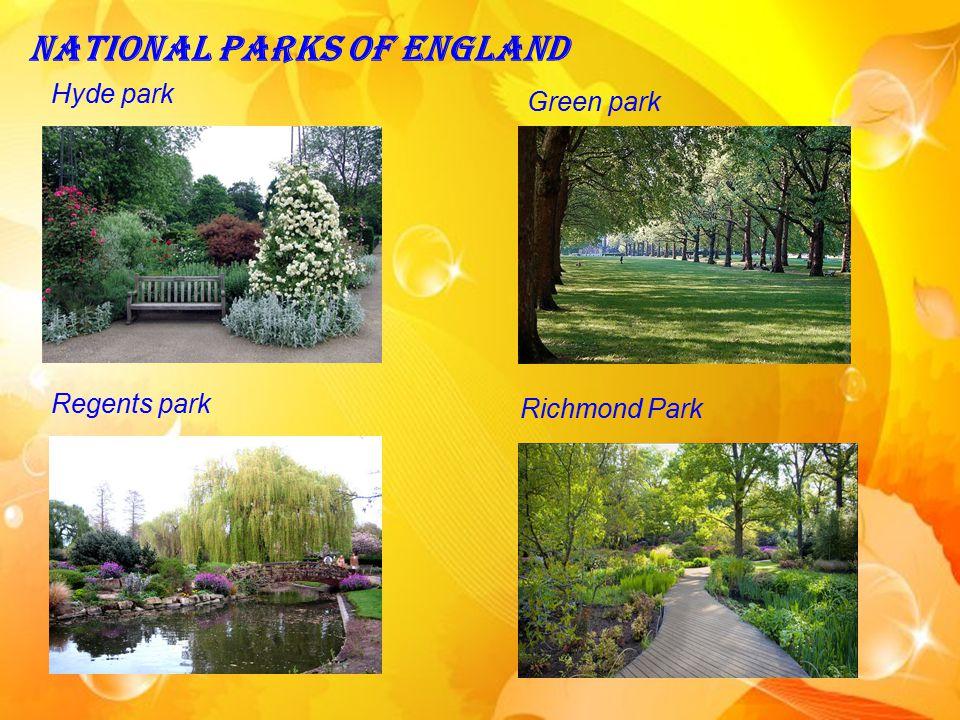 National Parks of England Hyde park Green park Regents park Richmond Park