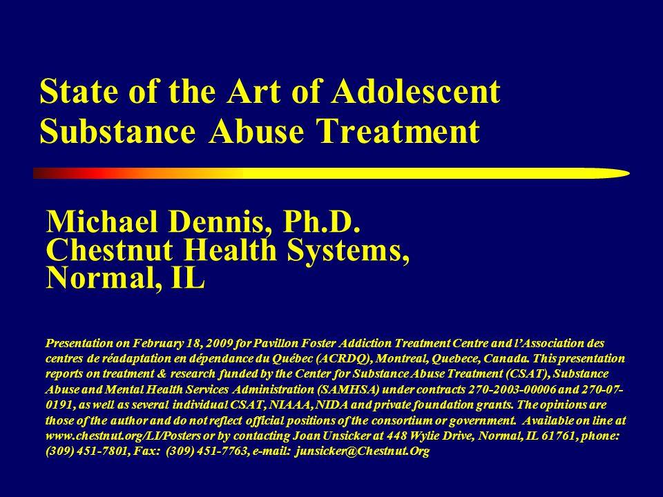 22 GAP between Adolescent SUD & Treatment Source: OAS, 2006 – 2003, 2004, and 2005 NSDUH
