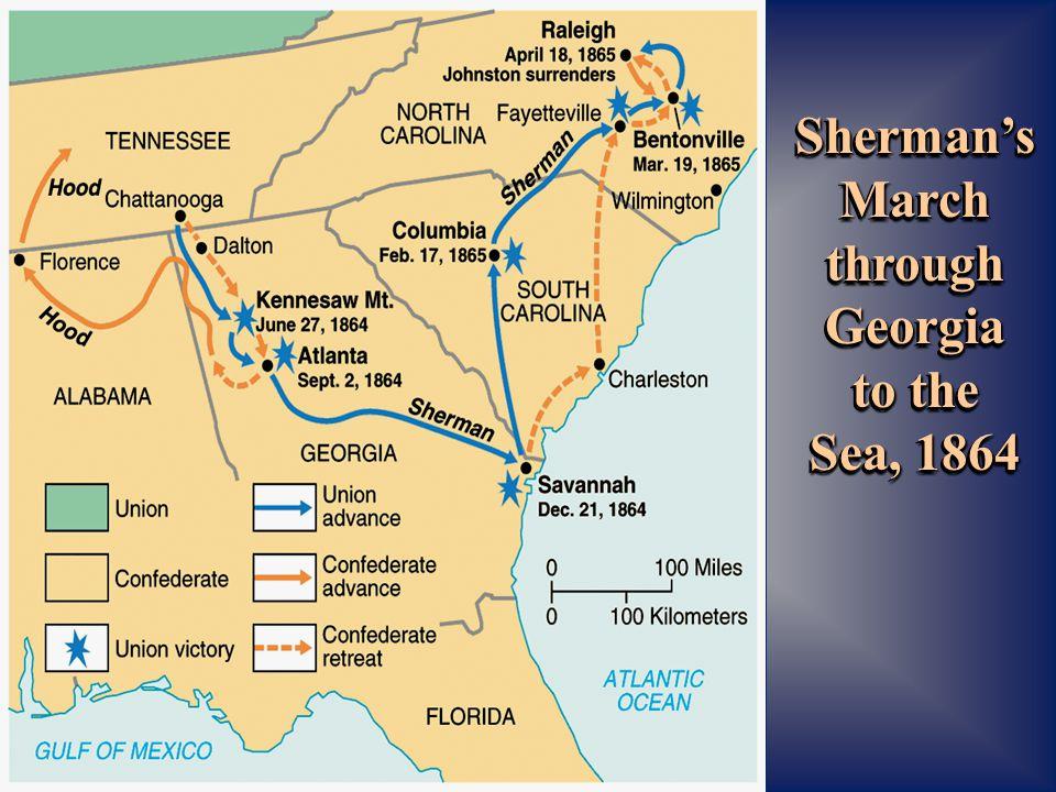 Sherman's March through Georgia to the Sea, 1864