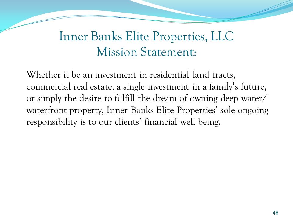 Three differentiating services done by Inner Banks Elite Properties for its Clients: We are equipped to interface with selected, qualified trustees and do all related paperwork necessary to transfer IRA, Roth, and 401K assets and place a purchased Hard asset into any one of those accounts at our Client's direction.