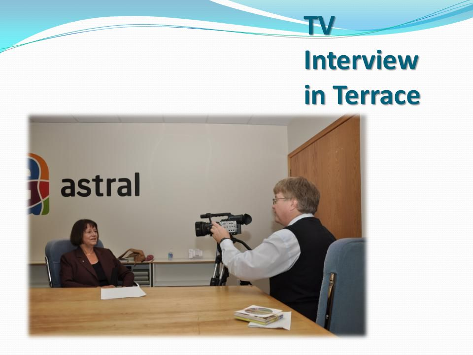 TV Interview in Terrace