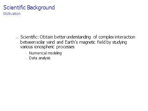 Scientific Background Motivation.,.