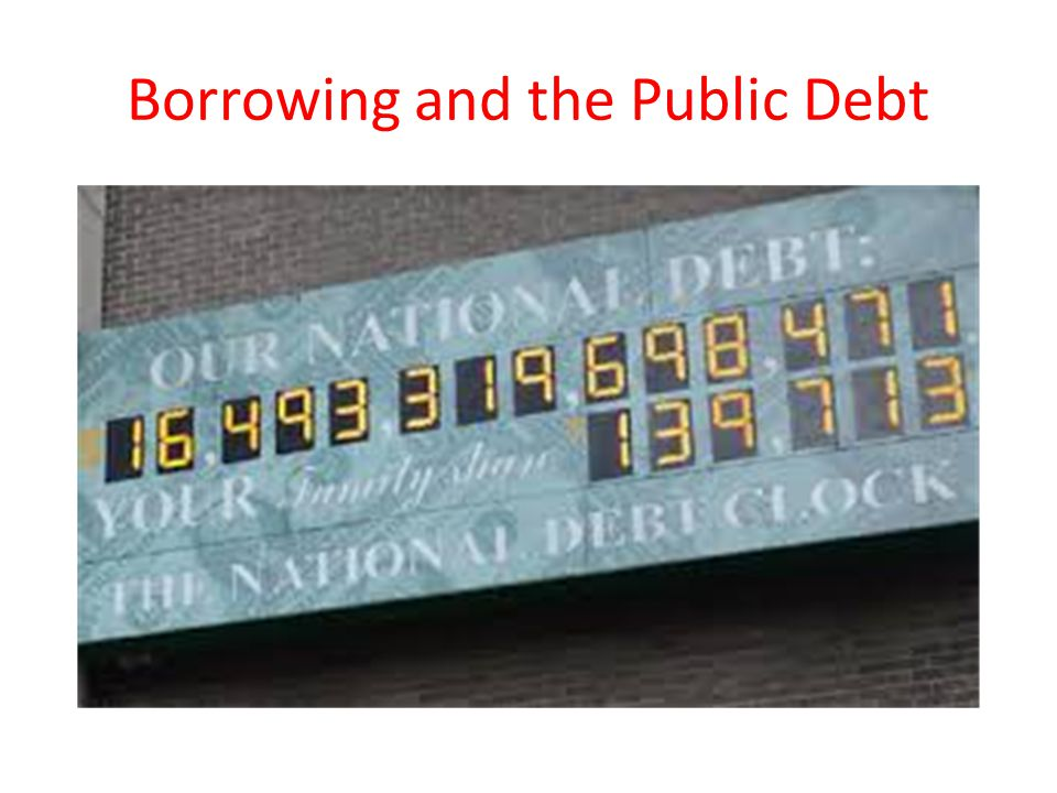 Borrowing and the Public Debt