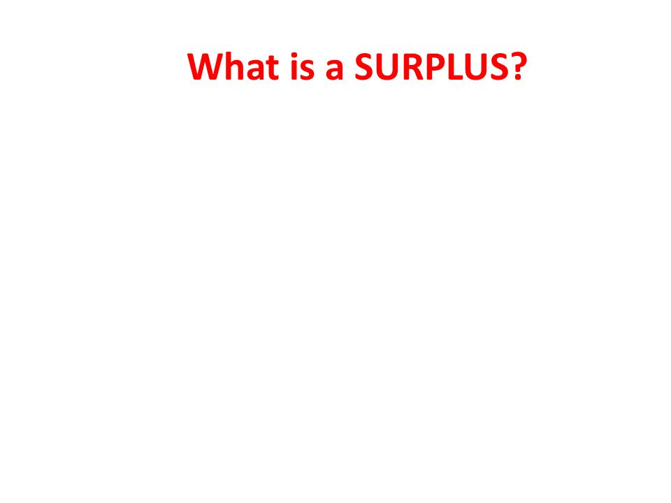 What is a SURPLUS?
