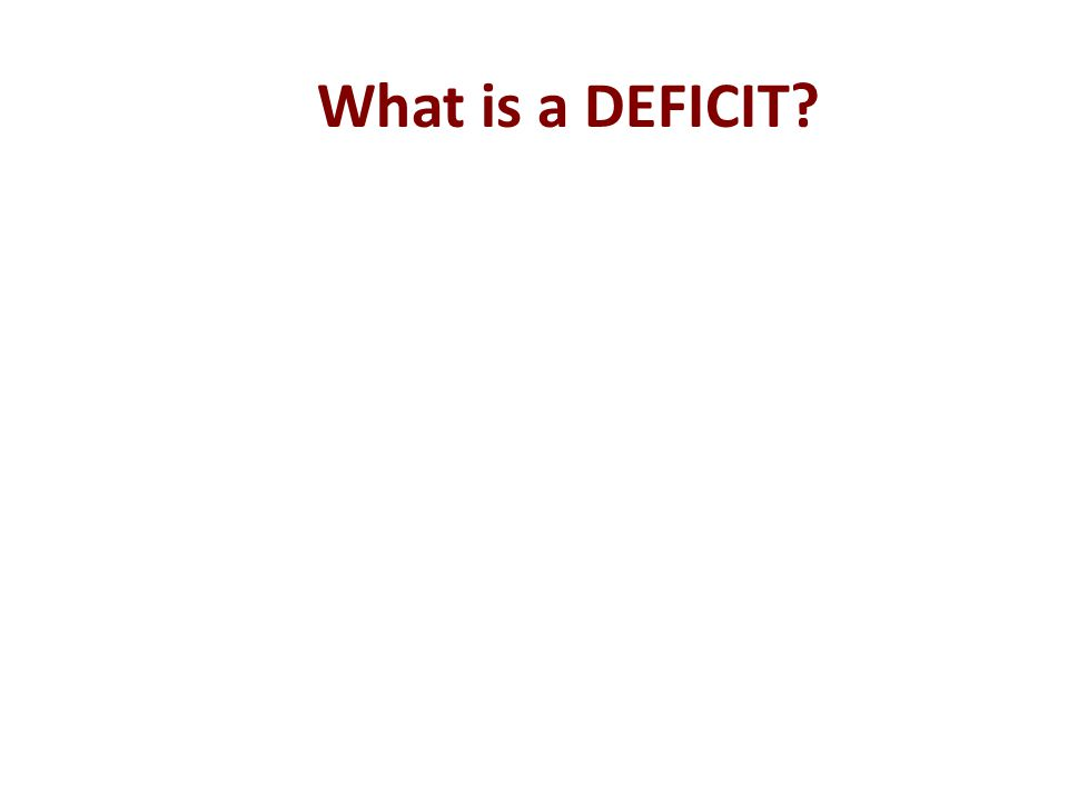 What is a DEFICIT?