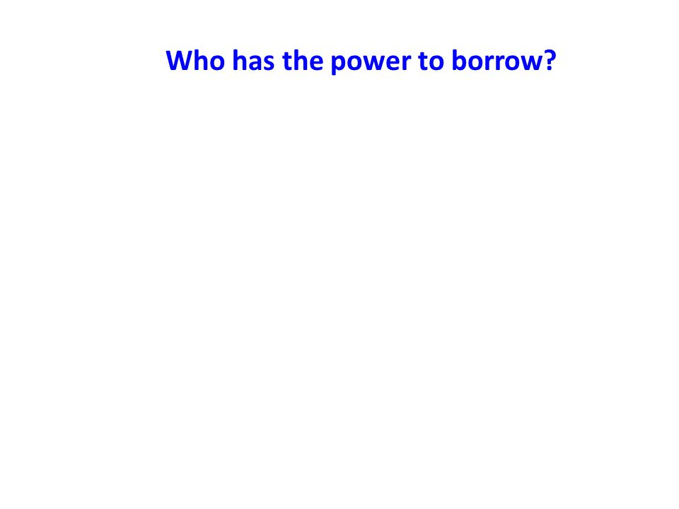 Who has the power to borrow