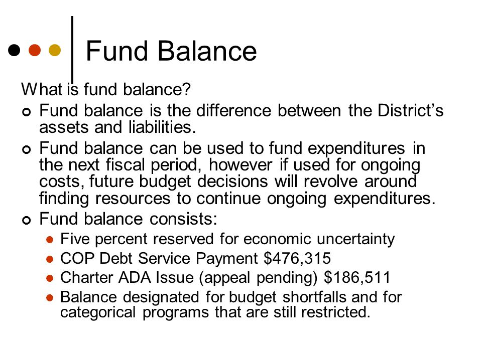 Why did the Fund Balance Increase.