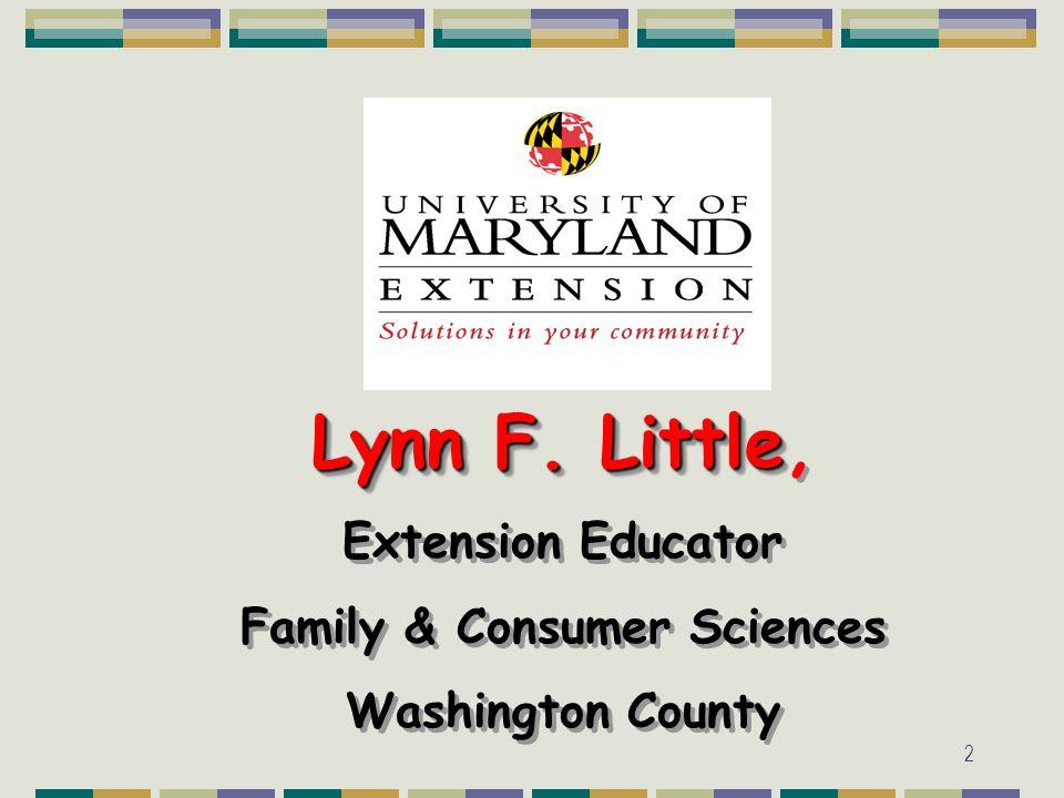 2 Lynn F. Little Lynn F.
