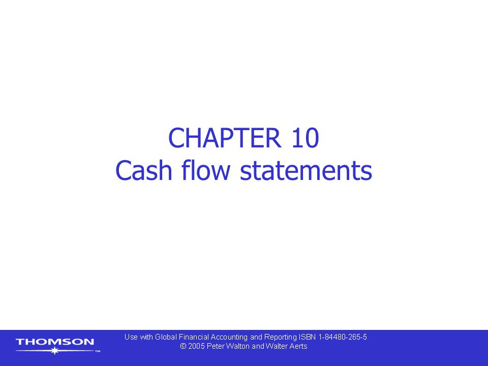 CHAPTER 10 Cash flow statements