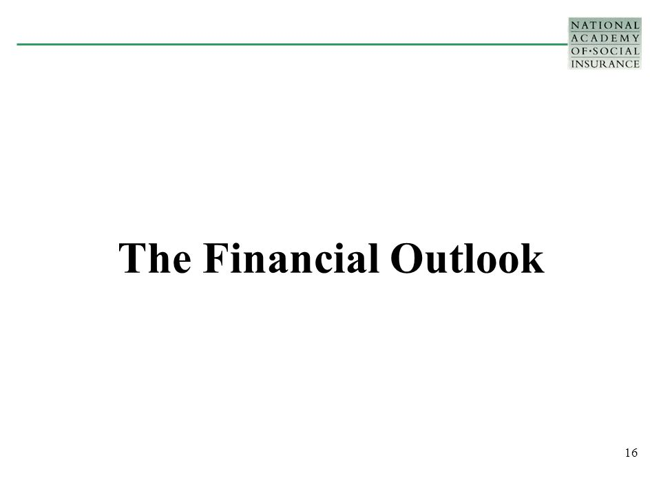 16 The Financial Outlook