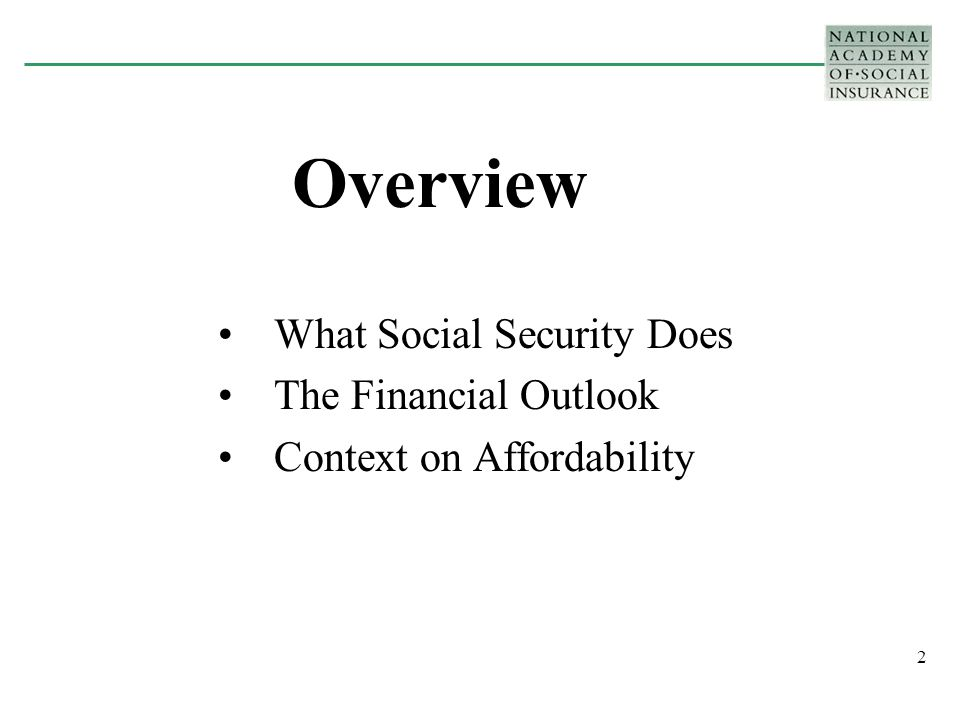 23 Why will Social Security cost more in the future.