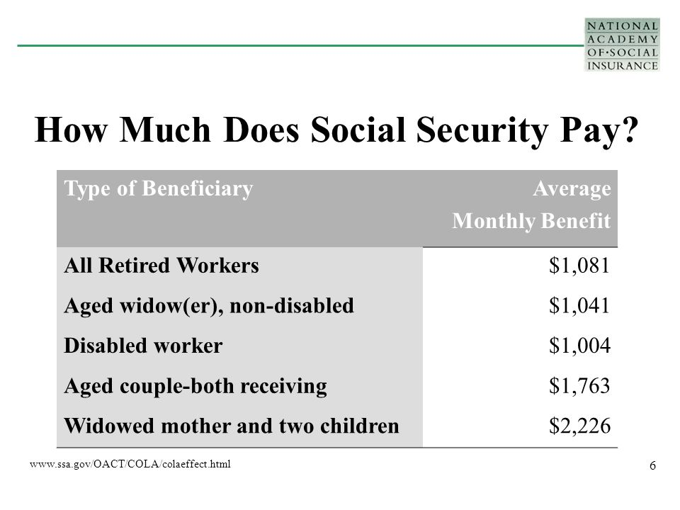 7 How do benefits compare to earnings.