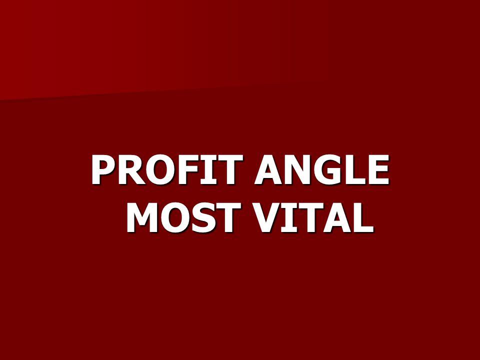 PROFIT ANGLE MOST VITAL