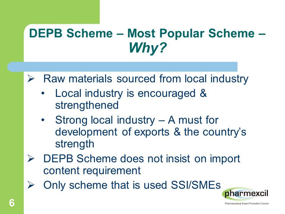 6 DEPB Scheme – Most Popular Scheme – Why.