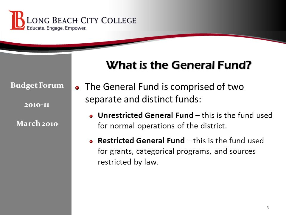 What is the General Fund.