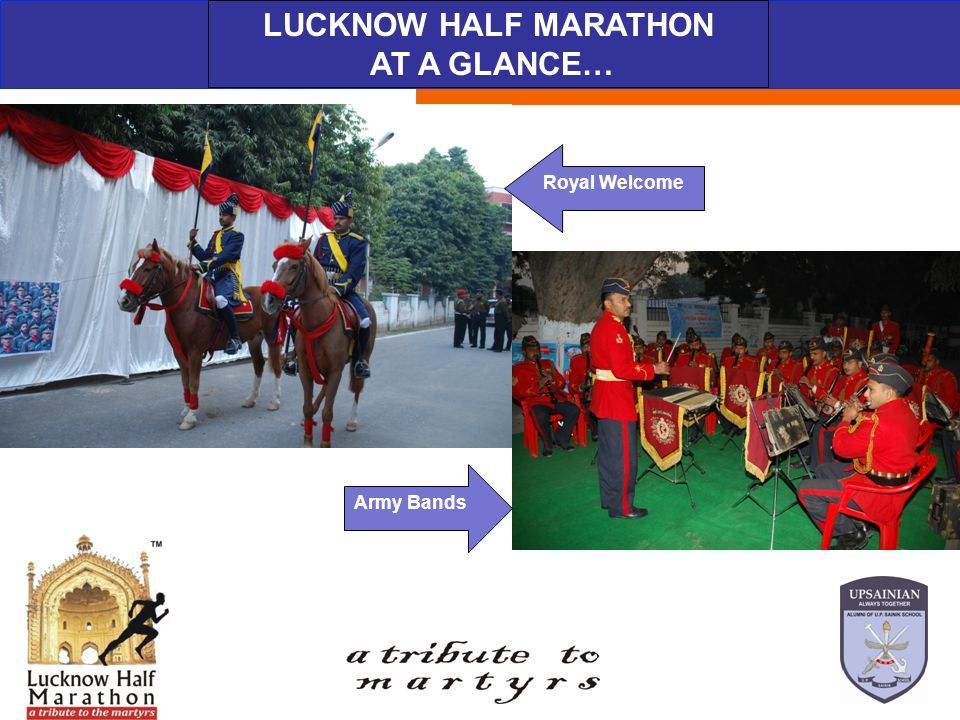 ABOUT THE EVENT LUCKNOW HALF MARATHON AT A GLANCE… The Winners Prerna for LUCKNOW HALF MARATHON