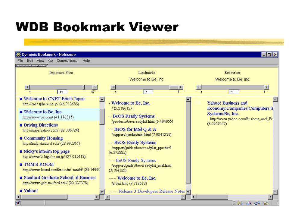 WDB Bookmark Viewer