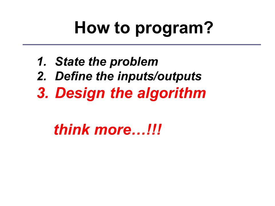 How to program.