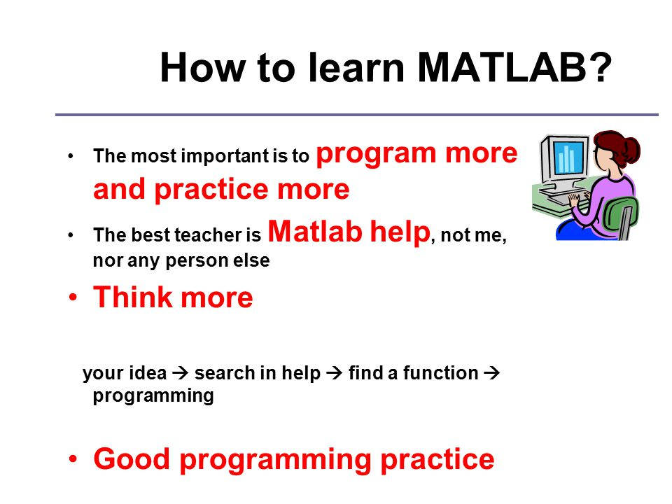 How to learn MATLAB.