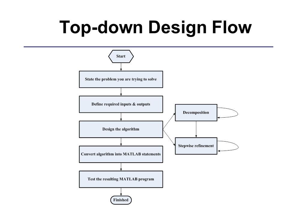 Top-down Design Flow