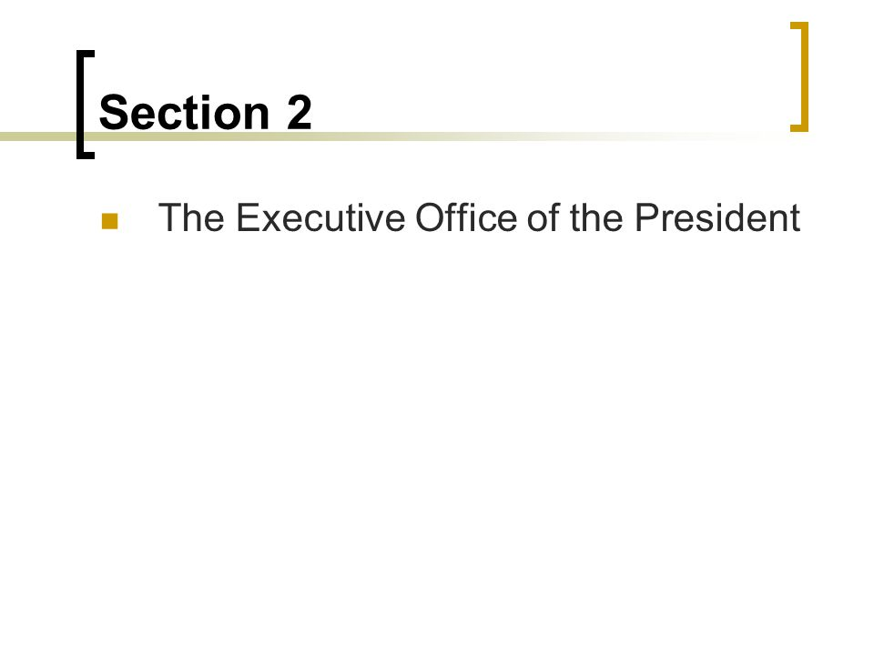The Executive Office of the President (EOP) Is an umbrella agency, including all the separate agencies with the job of helping the President enforce the laws