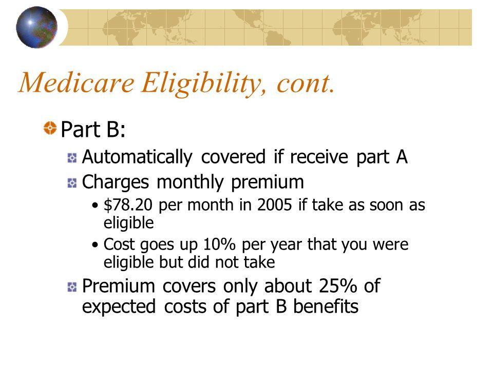 Medicare Eligibility, cont.