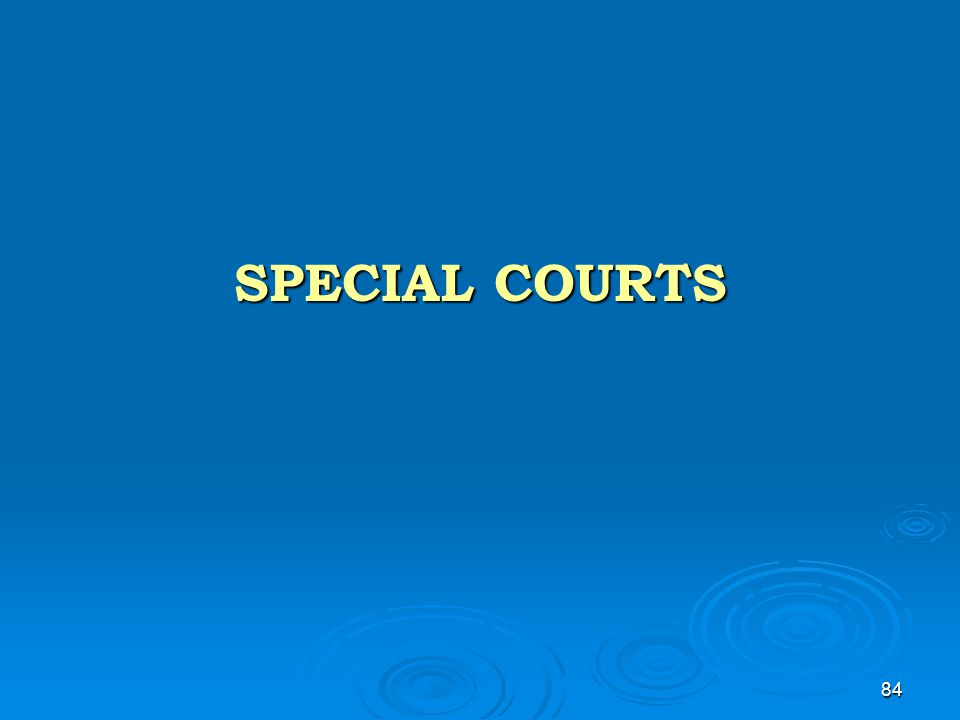 84 SPECIAL COURTS