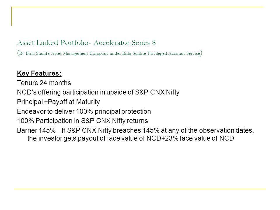 Asset Linked Portfolio- Accelerator Series 8 ( By Birla Sunlife Asset Management Company under Birla Sunlife Privileged Account Service ) Key Features