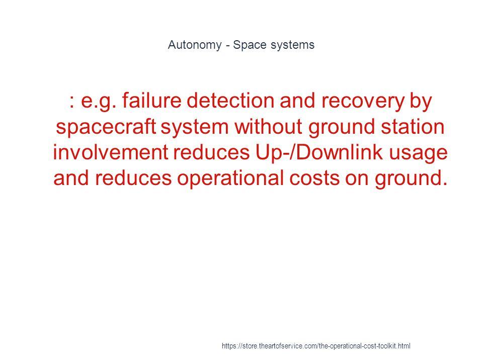 Autonomy - Space systems 1 : e.g.