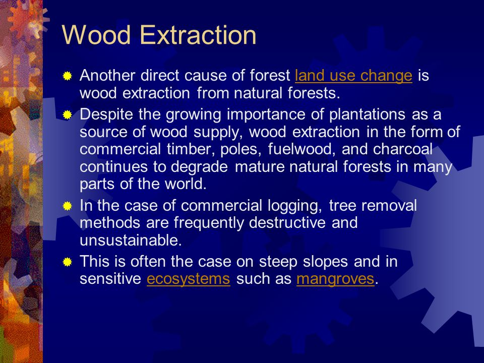 Absence of Good Governance and Rule of Law  Government policies, and how those policies are enforced, both within and outside the forest sector, also ultimately impact on forest land use change.land use change  Forest land is still all too often seen as a nationally- owned asset, irrespective of the stewardship that local communities have exercised over the same resource for many years.
