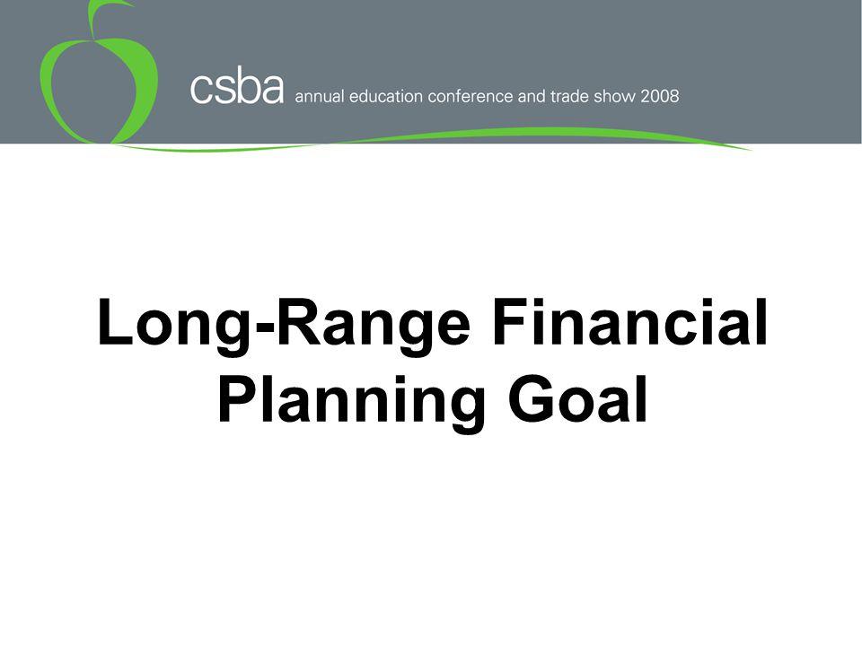 Long-Range Financial Planning Goal