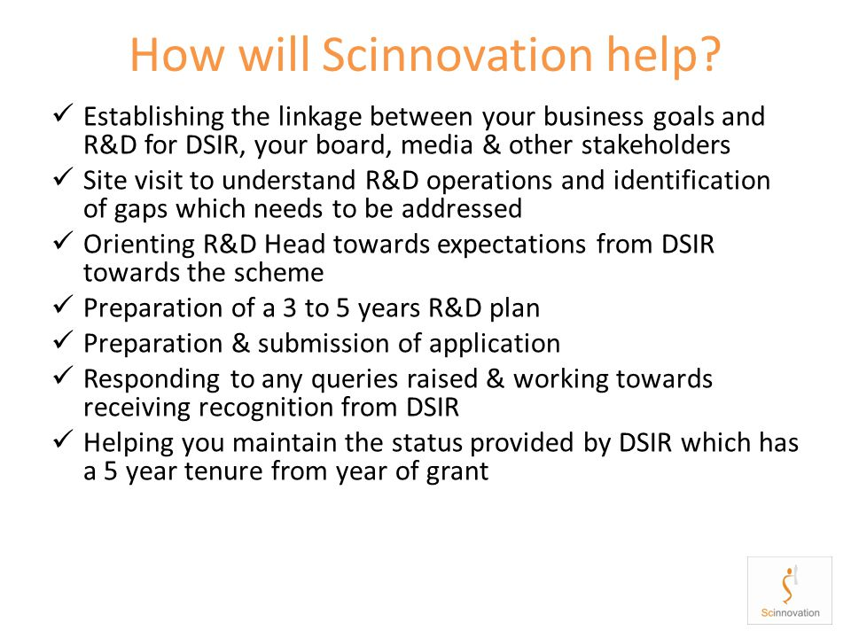 How will Scinnovation help.