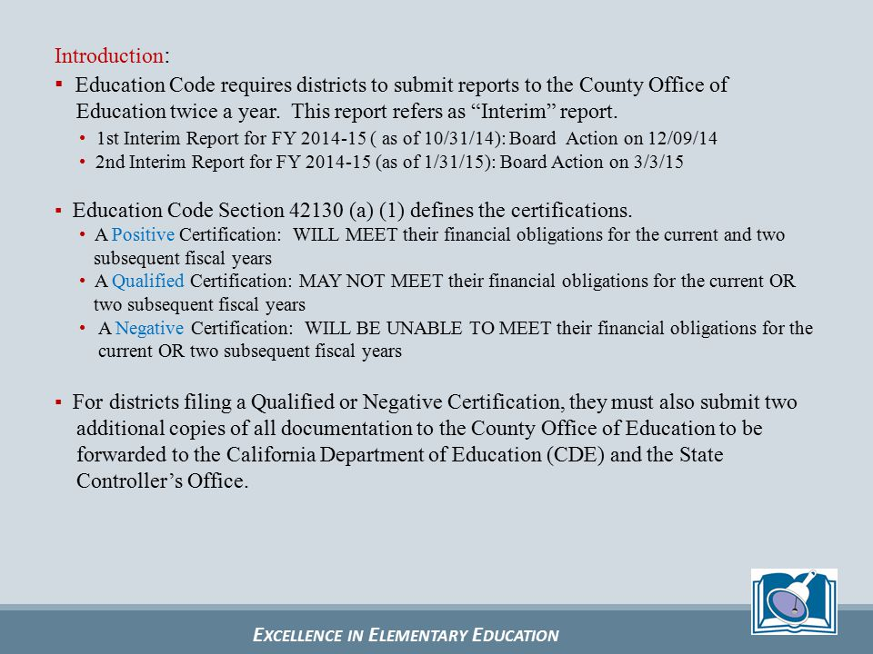 E XCELLENCE IN E LEMENTARY E DUCATION Local Control Funding Formula (LCFF) How does the LCFF apply to SUSD (FY 2014-15).
