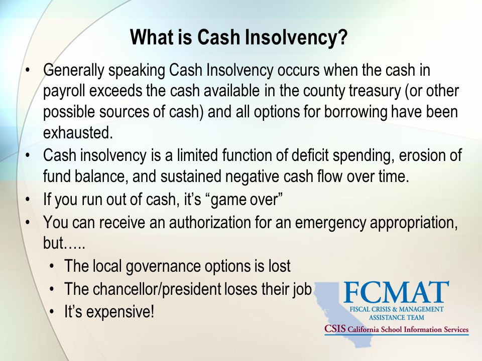 What is Cash Insolvency.