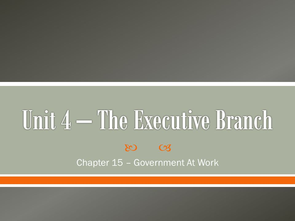  Chapter 15 – Government At Work