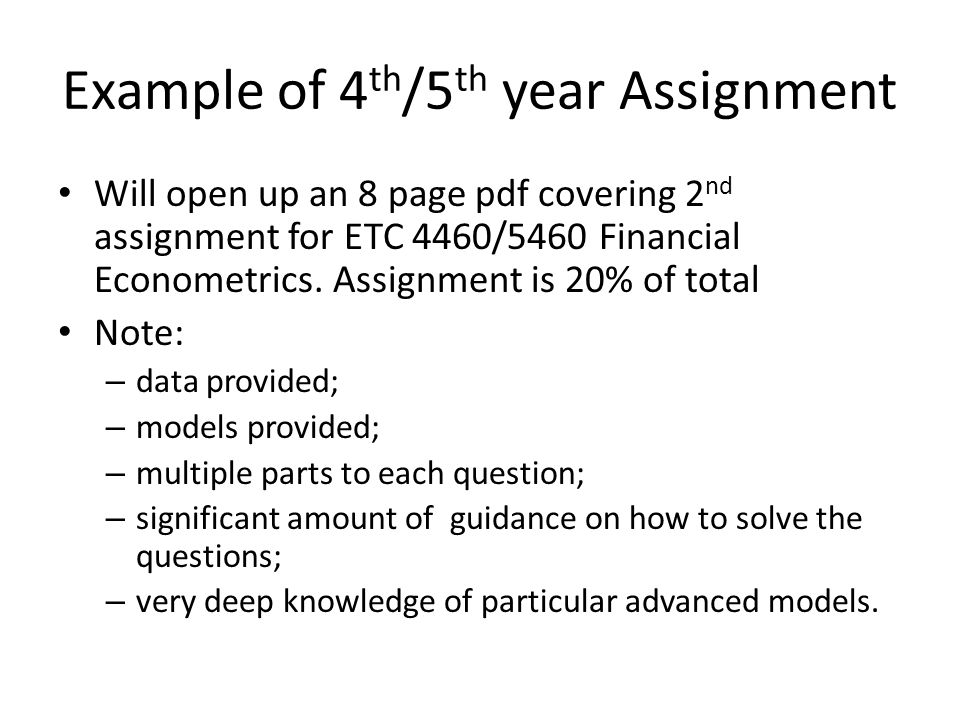 Example of ACC Assignment You are an FIAA in a large Australian consultancy firm.