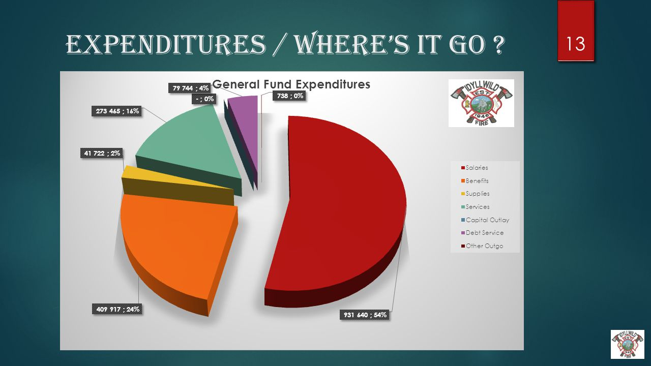 Expenditures / Where's it Go ? 13