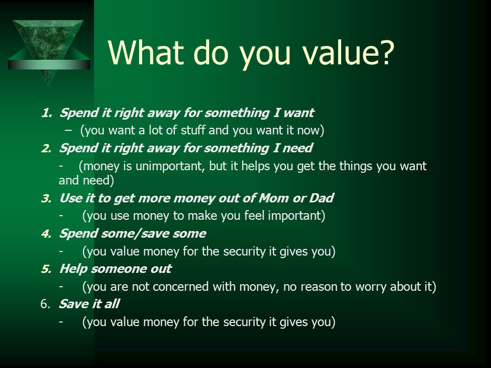 What do you value.1.