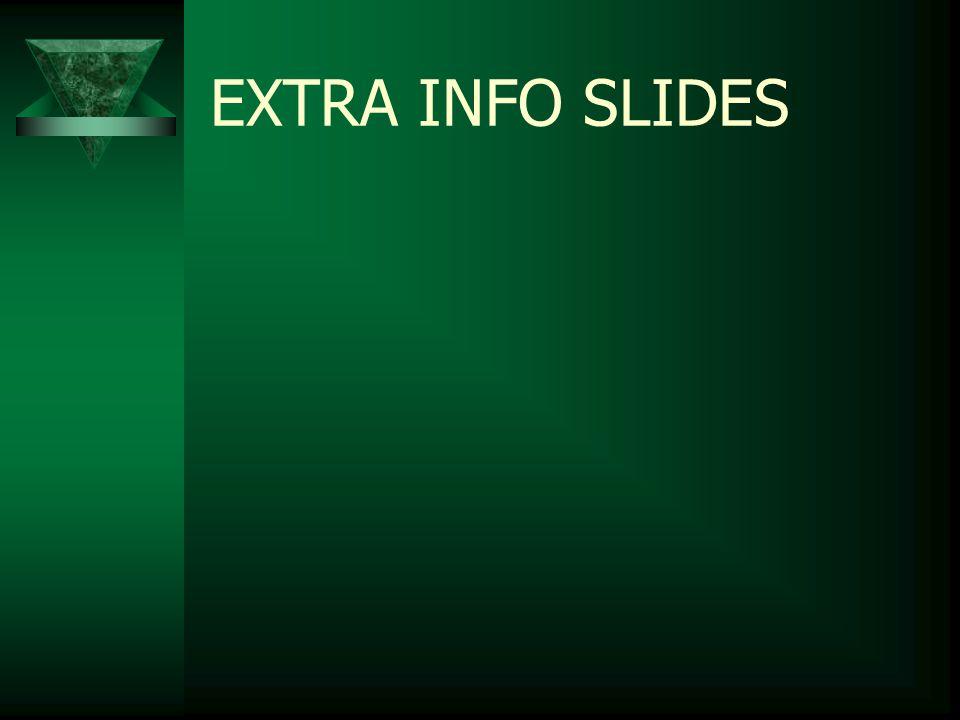 EXTRA INFO SLIDES