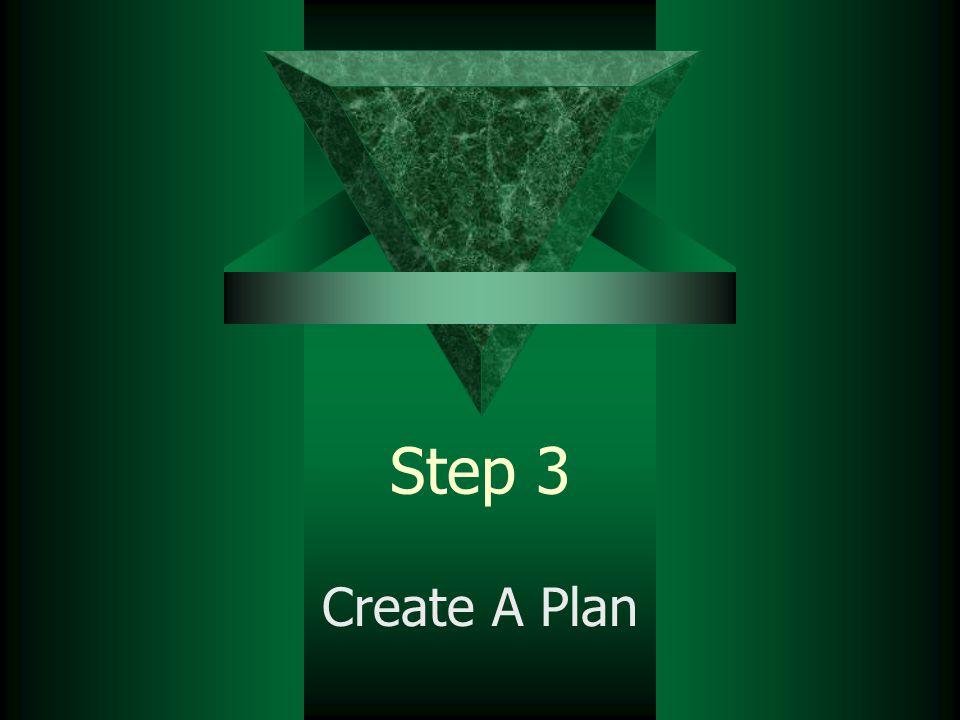 Step 3 Create A Plan
