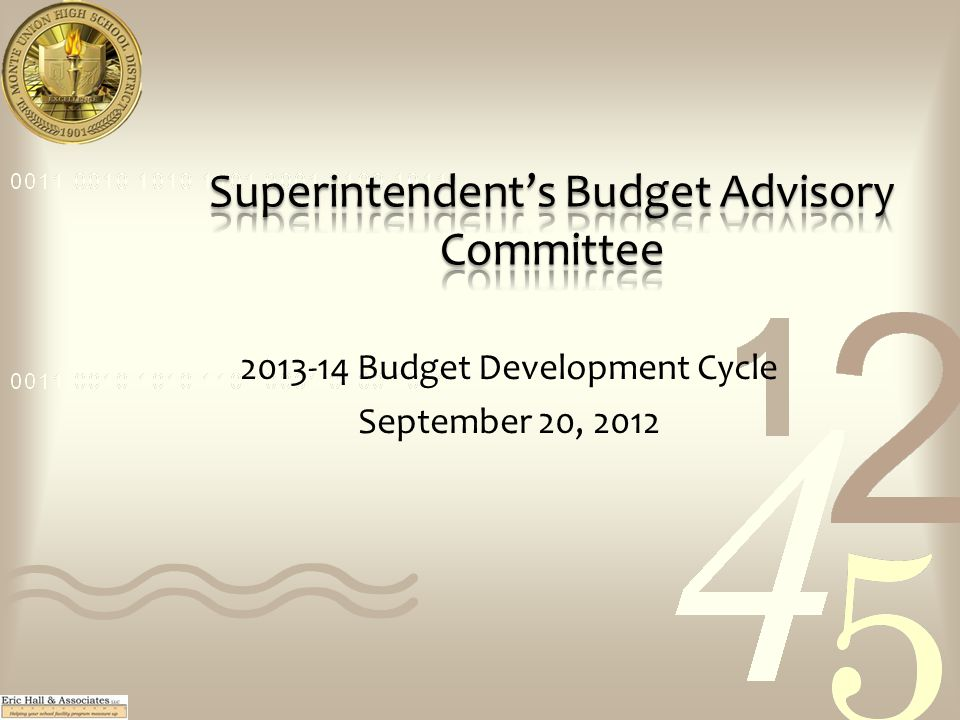2013-14 Budget Development Cycle September 20, 2012