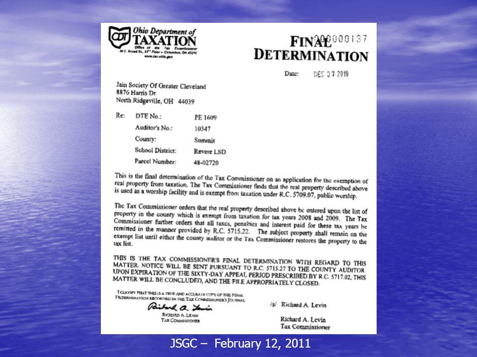 JSGC – February 12, 2011