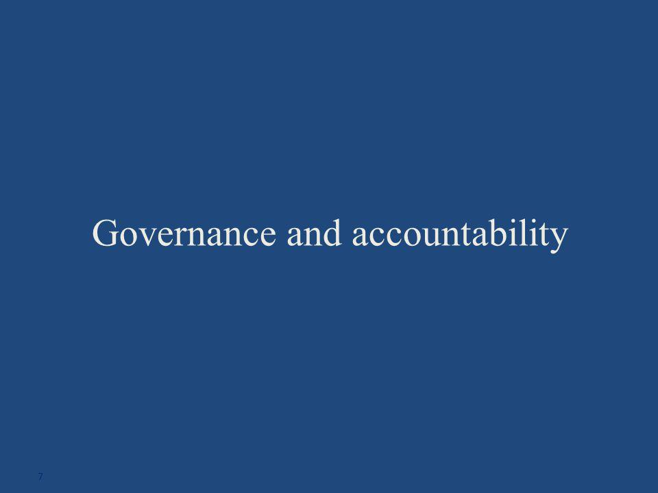 Governance and accountability 7