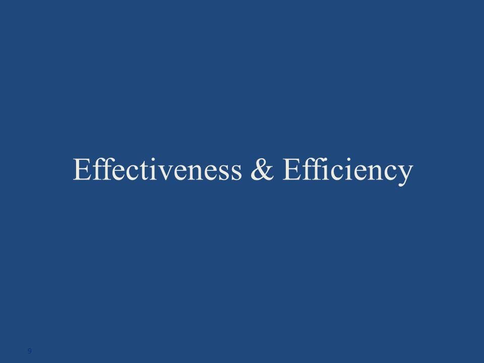 Effectiveness & Efficiency 9