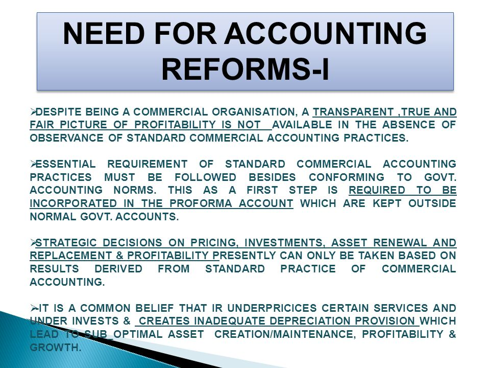  IT IS ALSO AN ACCEPTED BELIEF THAT IF SIGNIFICANTLY DISCLOSED APPROPRIATE NORMS OF COMMERCIAL ACCOUNTING ON DEPRECIATION AND PENSION PROVISION WERE TO BE FOLLOWED AND CORRECT PAYMENT OF INTERST(DIVIDEND AT CHARGE) ENSURED,IR WOULD HAVE POSSIBLY PROJECTED A NET LOSS IN SOME OF THE PAST YEARS.