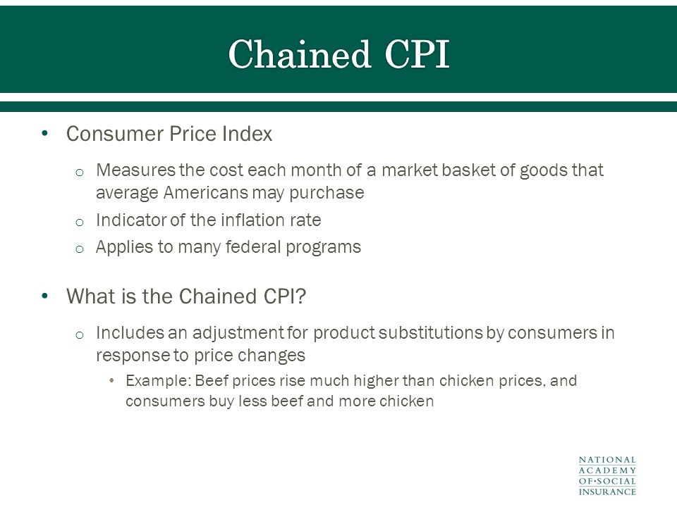 Consumer Price Index o Measures the cost each month of a market basket of goods that average Americans may purchase o Indicator of the inflation rate