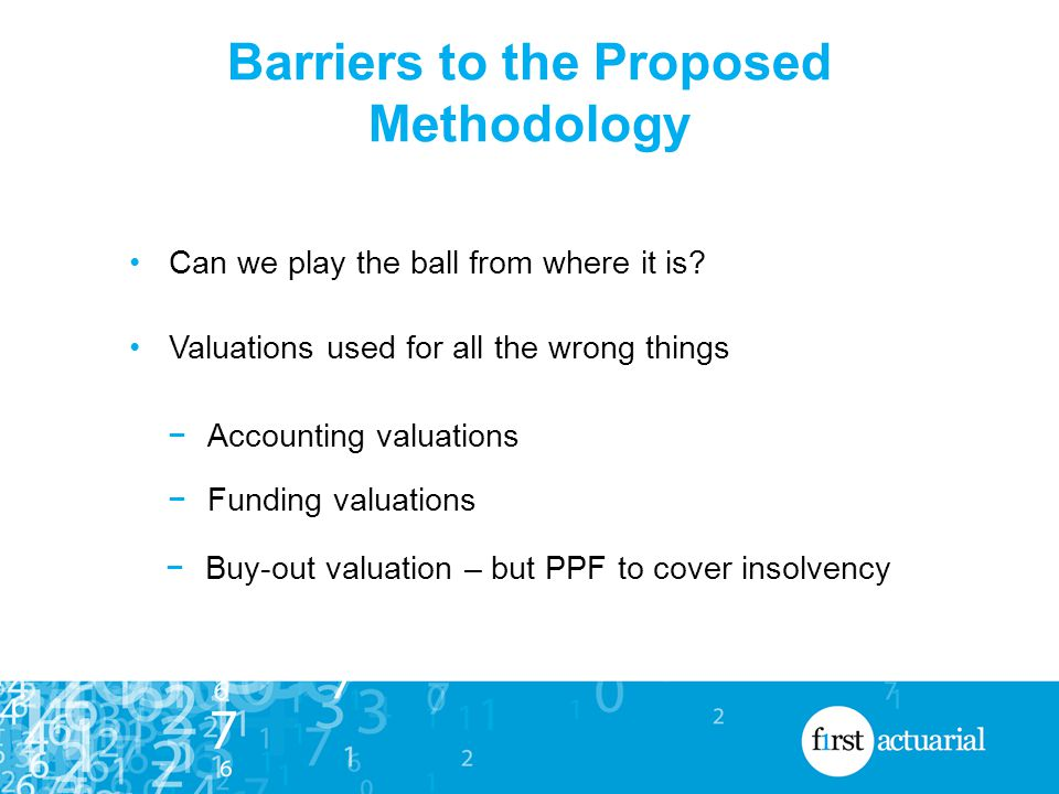 Barriers to the Proposed Methodology Can we play the ball from where it is.