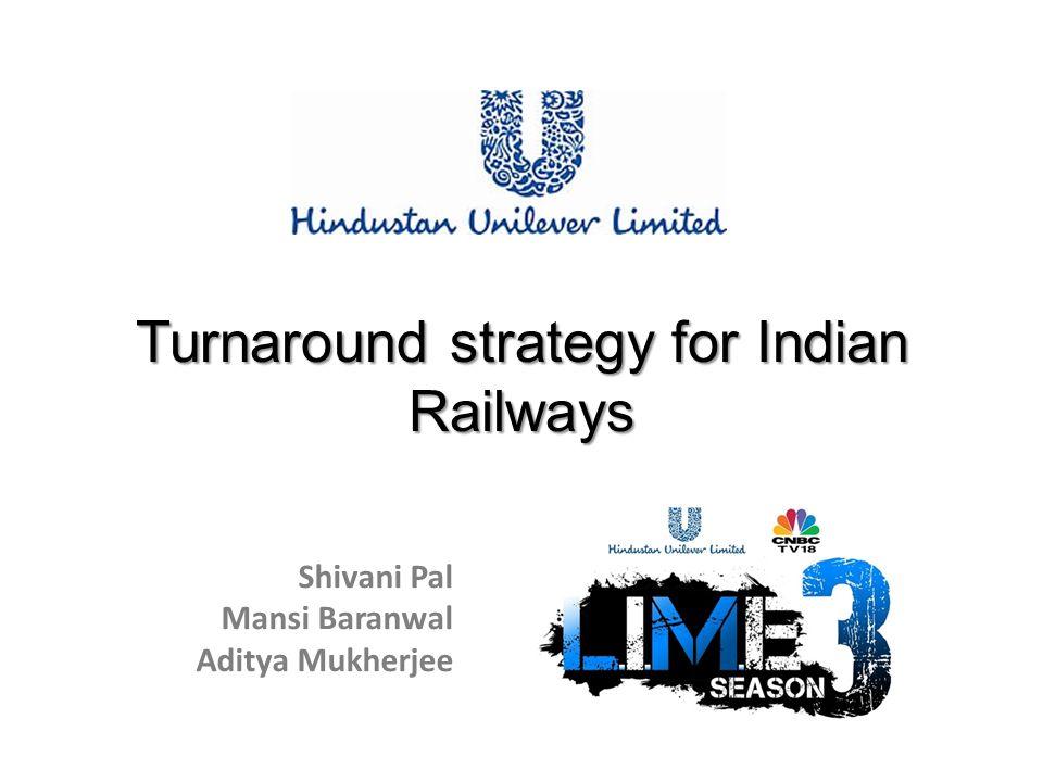 Turnaround strategy for Indian Railways Shivani Pal Mansi Baranwal Aditya Mukherjee