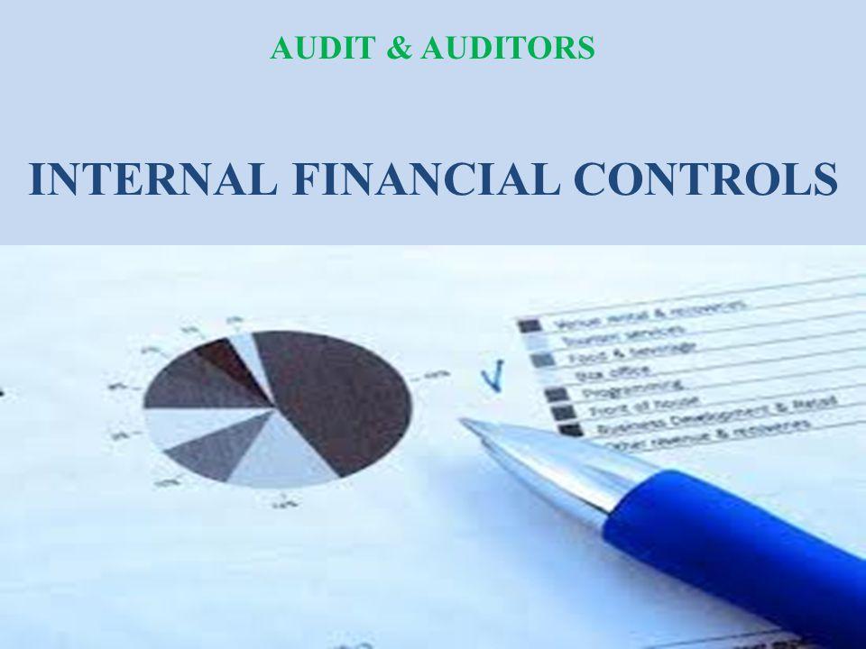 INTERNAL FINANCIAL CONTROLS AUDIT & AUDITORS